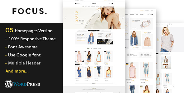 Focus – Fashion Responsive WooCommerce WordPress Theme