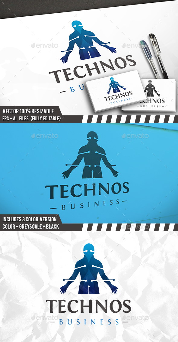 Tech Droid Logo - Humans Logo Templates