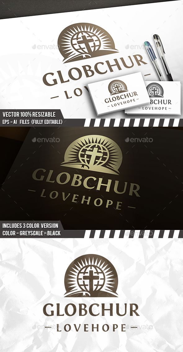 Globe Bible Church Logo - Symbols Logo Templates