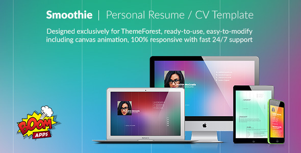 Smoothie – Creative Personal Resume/CV Template