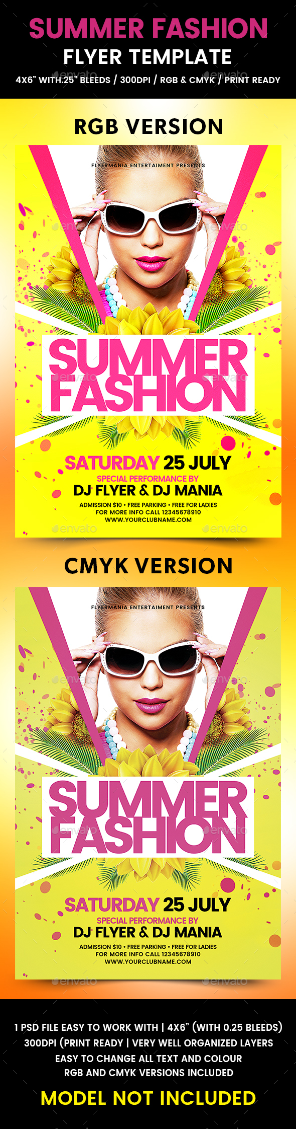 Summer Fashion Flyer Template - Events Flyers