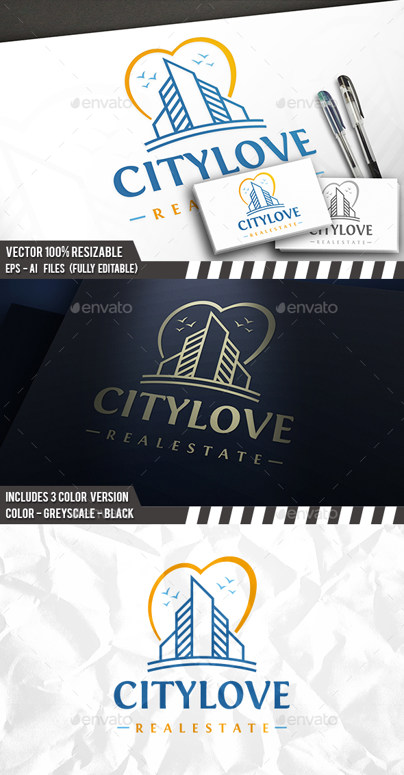 City Love Logo - Buildings Logo Templates