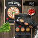 Pizza Menu Design - A4 and US Letter - GraphicRiver Item for Sale