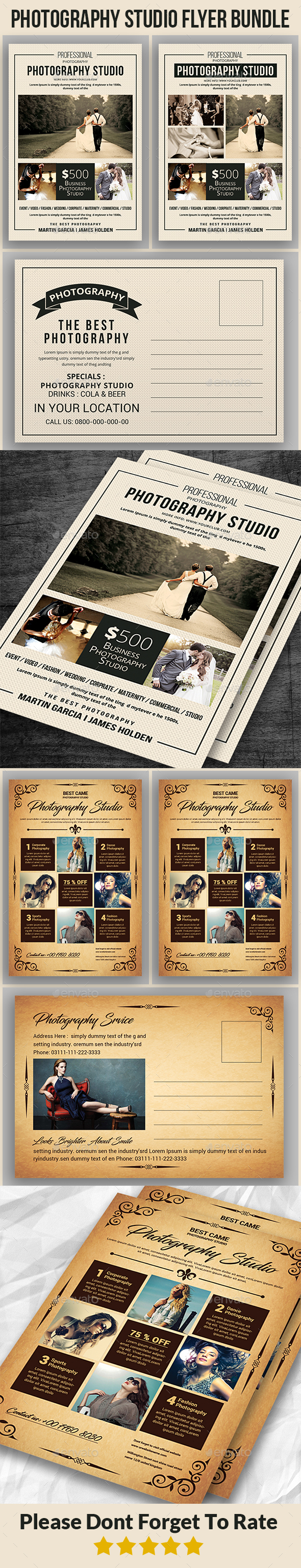 Photography Flyer Bundle - Corporate Flyers