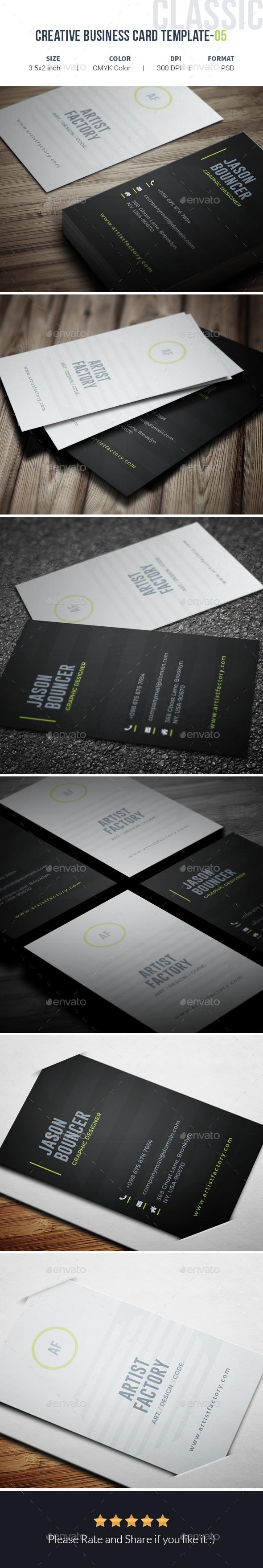 Creative Business Card Template-05 - Creative Business Cards