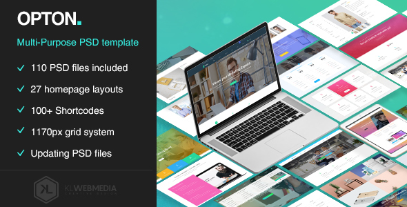 Opton - Multi-Purpose PSD Template - Creative PSD Templates