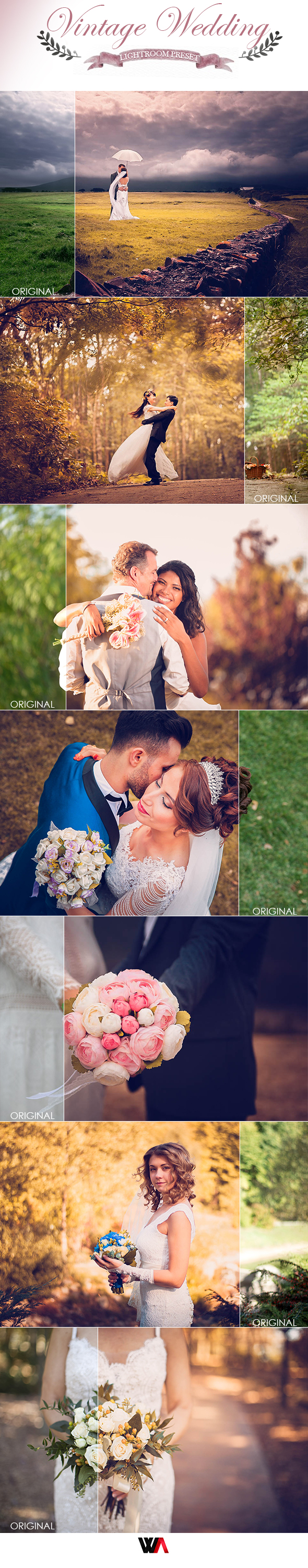 Wedding Vintage Lightroom Preset - Wedding Lightroom Presets