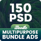 Bundle Multipurpose, Corporate, Business Banners Ad - 10 Sets [150PSD]