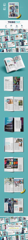 Tribepop Magazine Template - Magazines Print Templates
