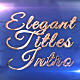 Elegant Titles Intro - VideoHive Item for Sale