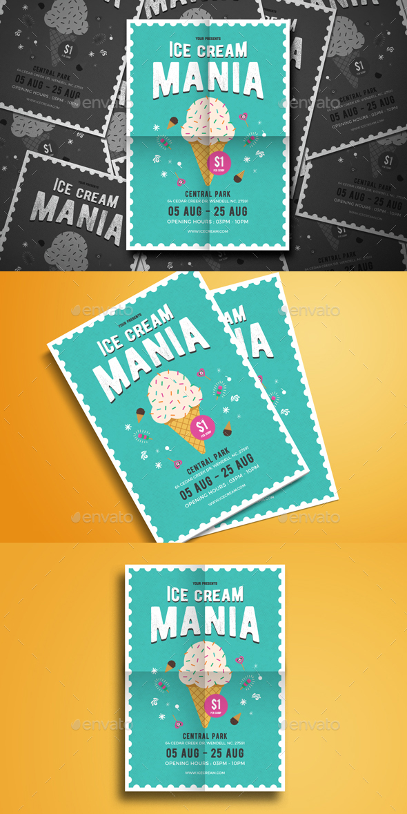 Ice Cream Mania Flyer - Events Flyers