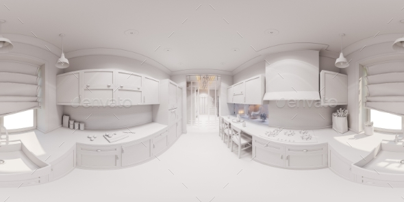 3d Render of the Kitchen Interior Design - Architecture 3D Renders