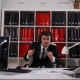 Businessman Dancing in Office in Headphones - VideoHive Item for Sale