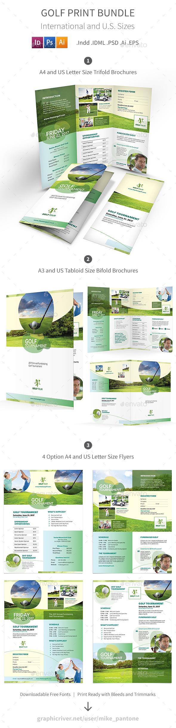Golf Print Bundle 6 - Informational Brochures