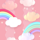 Cartoon Pastel Clouds and Rainbow - VideoHive Item for Sale