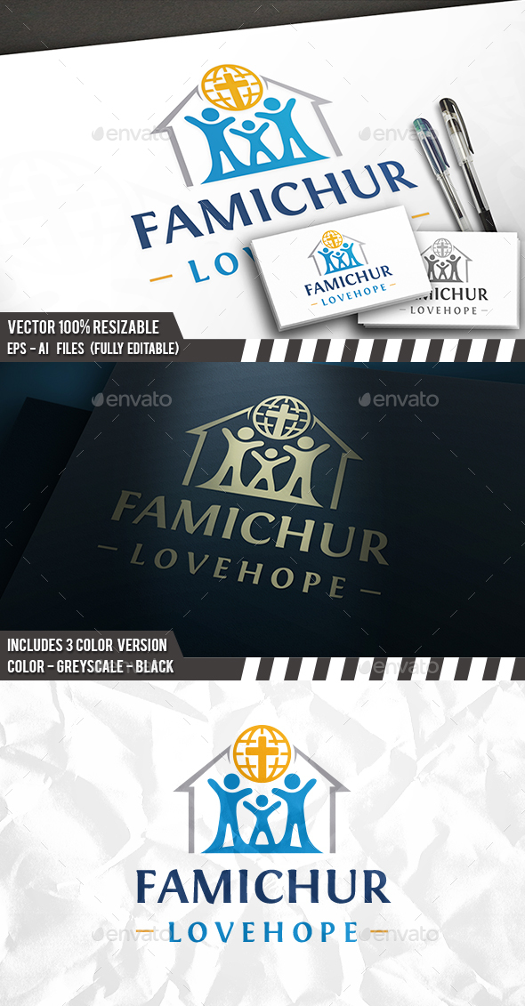 Hope House Logo - Buildings Logo Templates