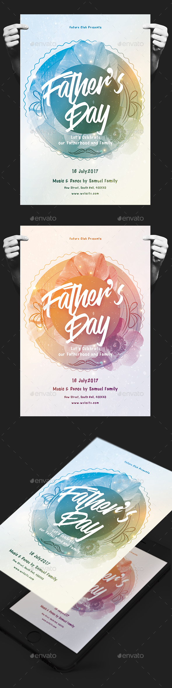 Father's Day Celebration Event - Events Flyers