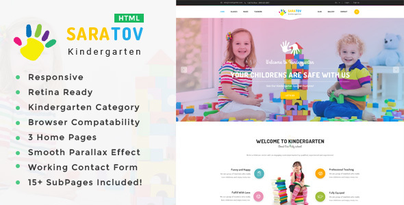 Image of Saratov - Kindergarten & School HTML Template