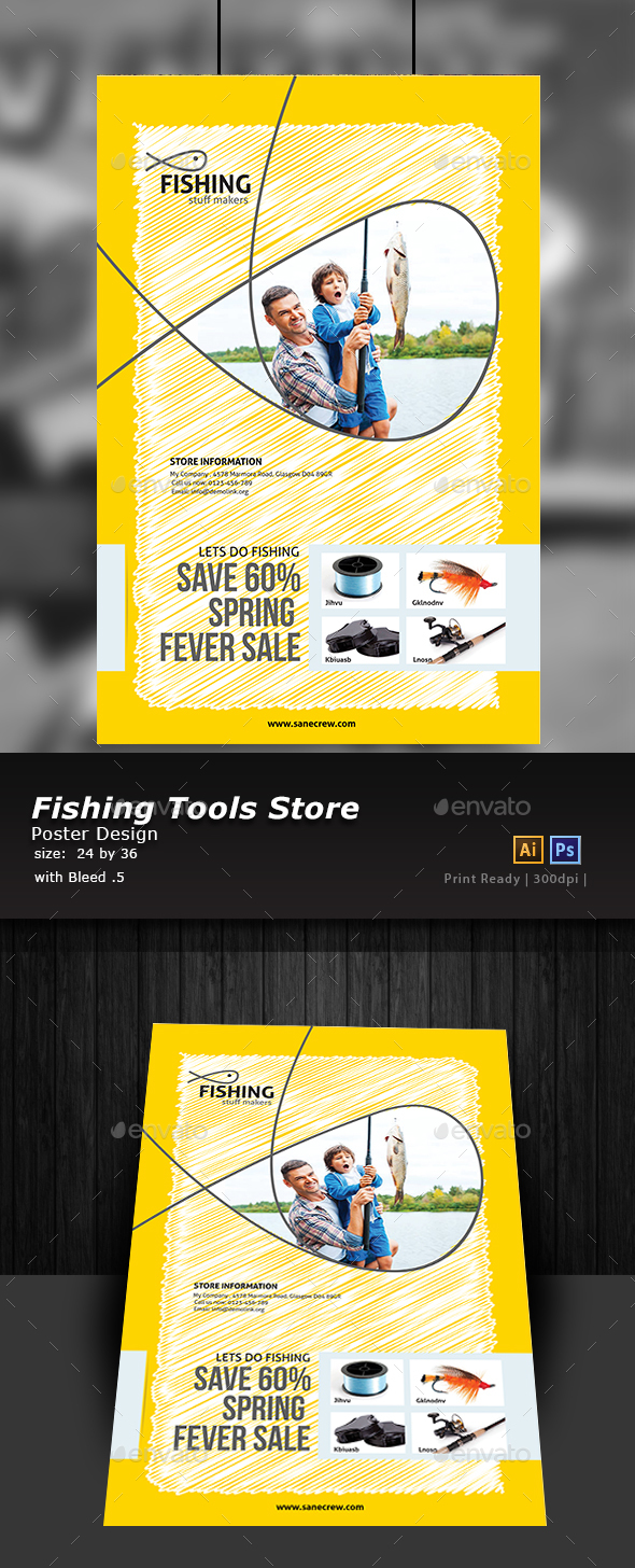 Fishing Equipment Store Brochure - Print Templates