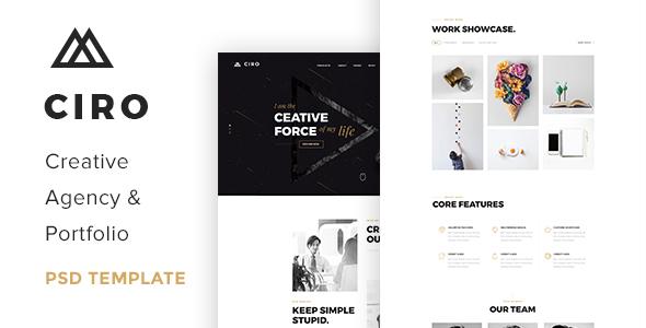 Ciro – Creative Agency & Portfolio PSD Template