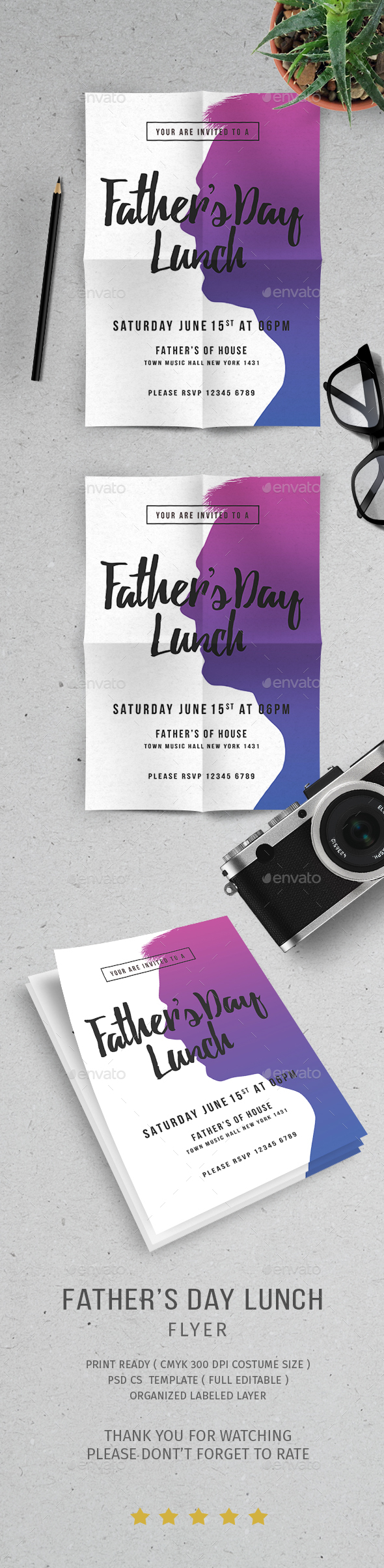 Father's Day Lunch - Events Flyers