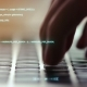 Extreme  of Human Hands Typing on Laptop Keyboard, Selective Focus - VideoHive Item for Sale
