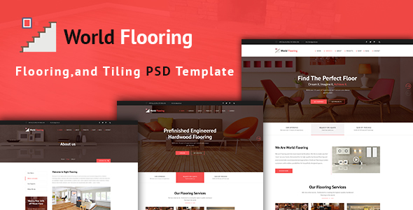 World Flooring - Flooring & Tiles PSD Template - Business Corporate