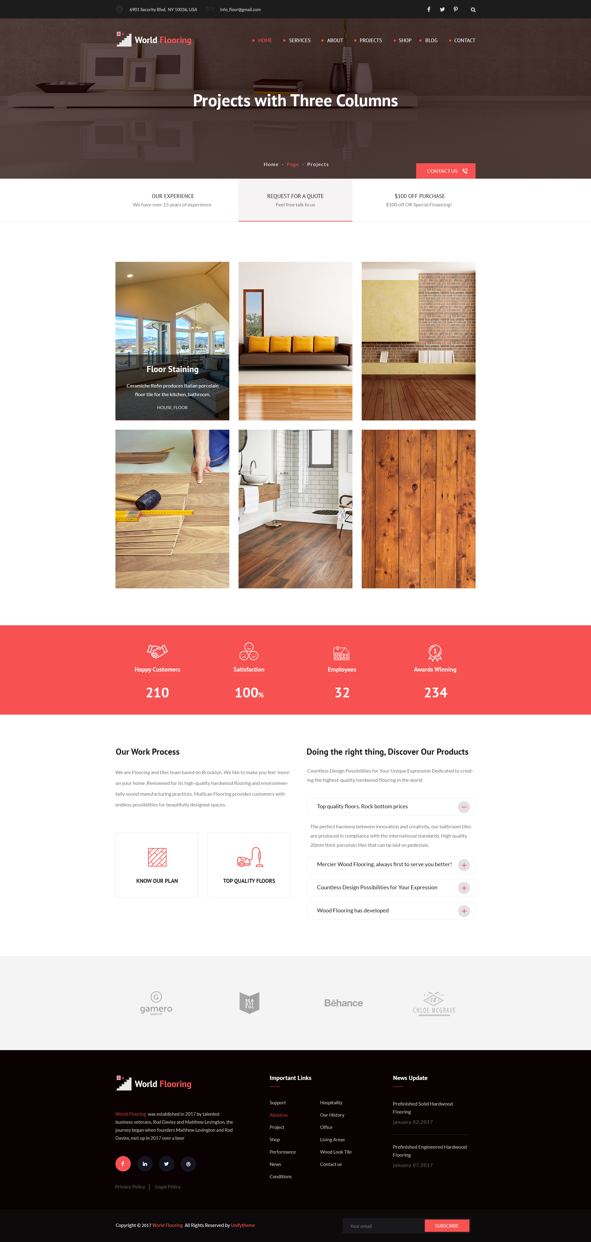 World Flooring Flooring Tiles Psd Template By