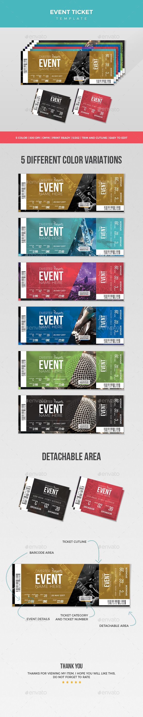 Event Ticket - Miscellaneous Print Templates