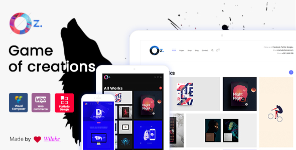 OZ - Game of Creations | Creative WordPress Theme