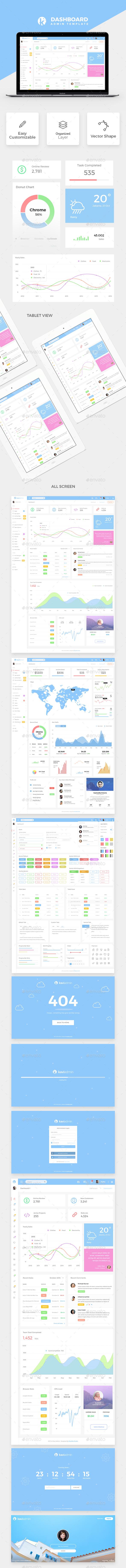 Kavi Admin Dashboard Template - User Interfaces Web Elements