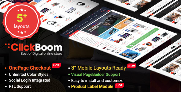 ClickBoom - Advanced OpenCart 2.3 Shopping Theme With Mobile-Specific Layouts - OpenCart eCommerce