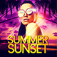Summer Sunset Flyer Template - GraphicRiver Item for Sale