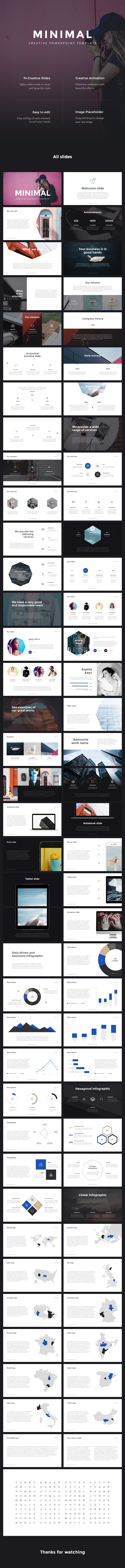 Minimal PowerPoint Template - Business PowerPoint Templates