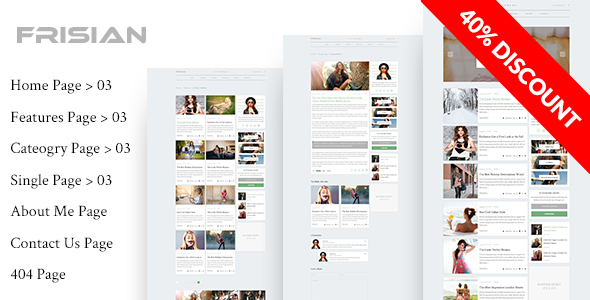 FRISIAN - Magazine & Blog HTML Template - Creative Site Templates