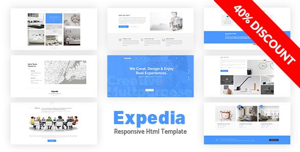Expedia - Multipurpose Responsive Bootstrap Template - Corporate Site Templates
