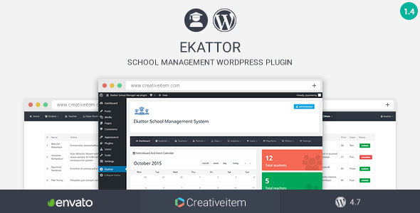 Ekattor School Manager Wordpress Plugin - CodeCanyon Item for Sale