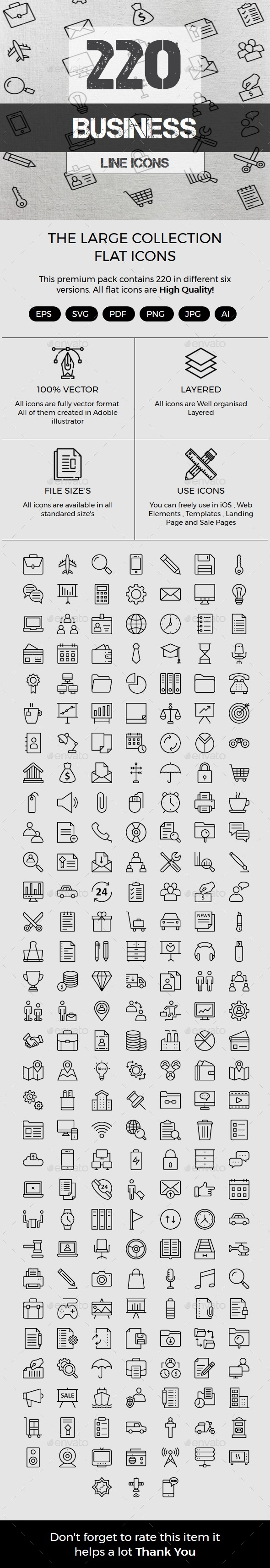 Business Line icons - Business Icons