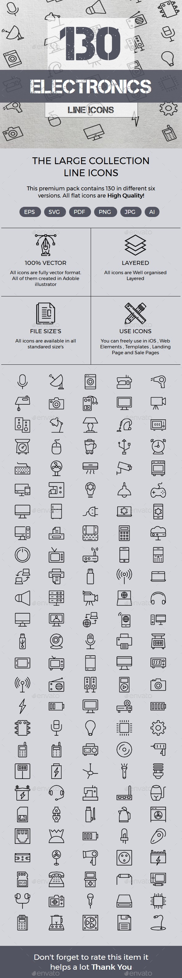 Electronics line icons - Icons