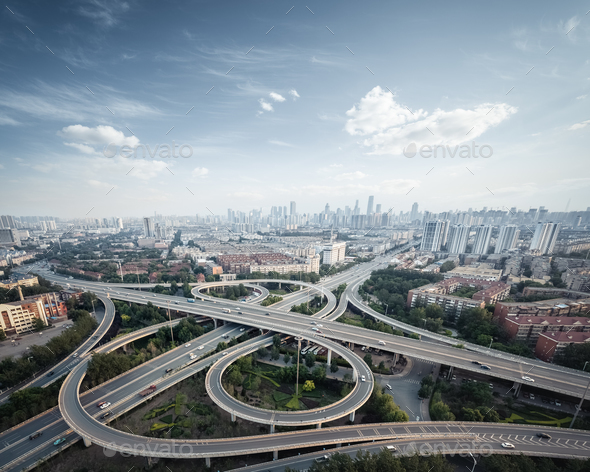 city interchange in tianjin - Stock Photo - Images