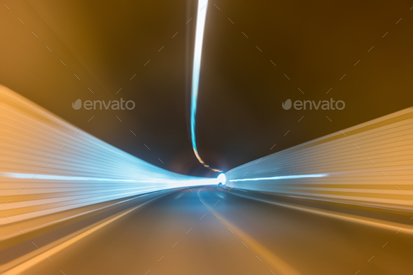 cucurve tunnel inside - Stock Photo - Images