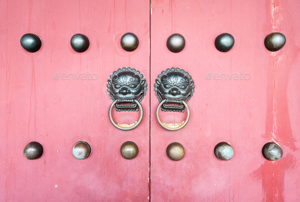 traditional palace door knocker - Stock Photo - Images
