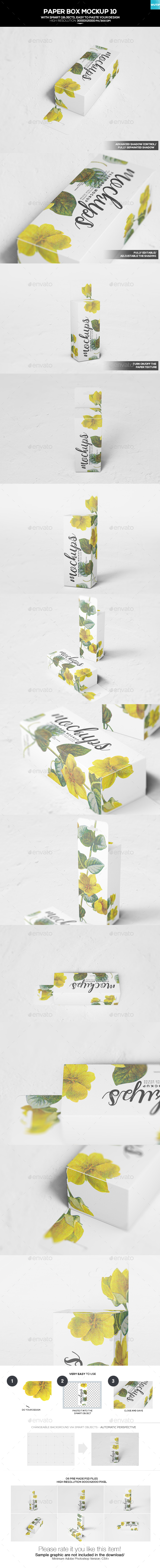 Paper Box Mockup 10 - Miscellaneous Packaging