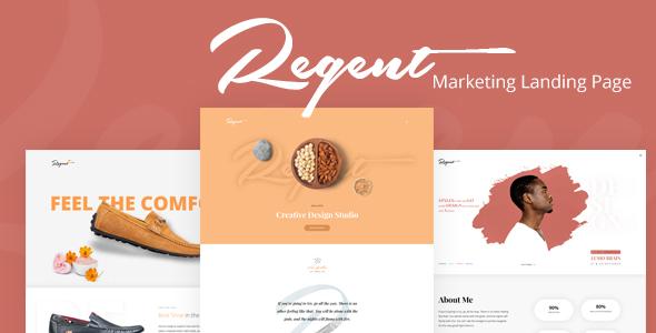 Regent - Multipurpose Marketing Landing page