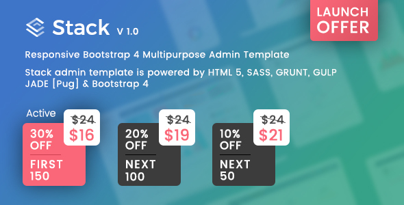 Stack – Responsive Bootstrap 4 Admin Template