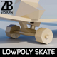 Lowpoly Skateboard - 3DOcean Item for Sale