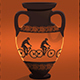 Ancient Bike Caricature On Greek Amphora