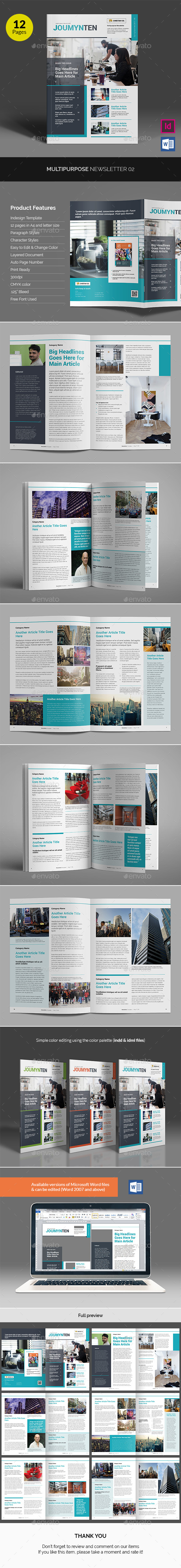 Multipurpose Newsletter v02 - Newsletters Print Templates