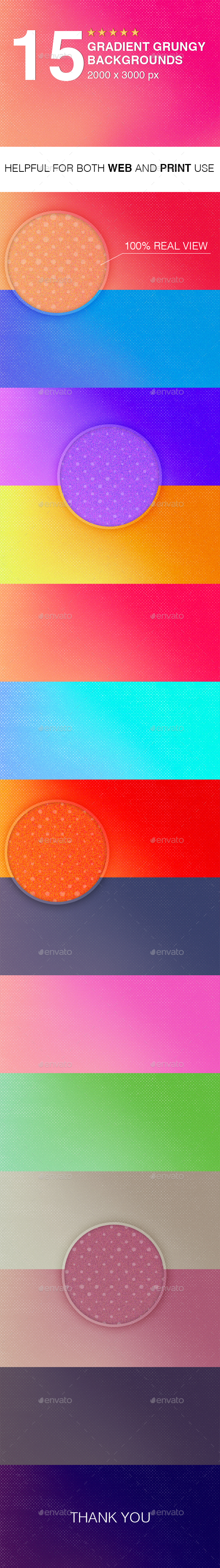 Gradient Grungy Backgrounds - Backgrounds Graphics