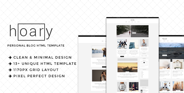 Hoary - Minimal Blog HTML Template - Personal Site Templates